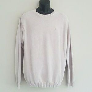 IZOD Men's Sweater Beige Tan Size Large Cotton